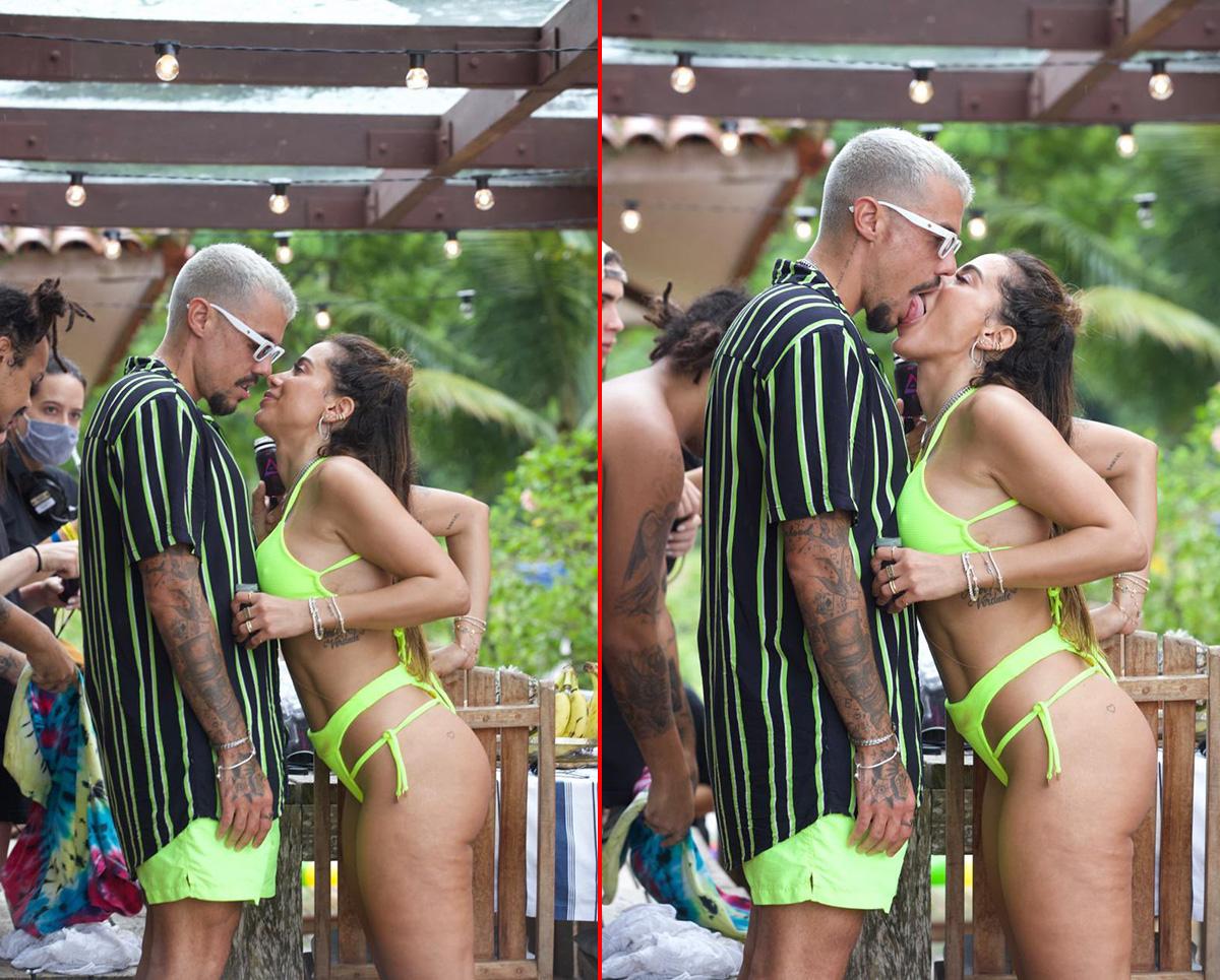 Anitta beija Lipe Ribeiro em Ilhados com Beats