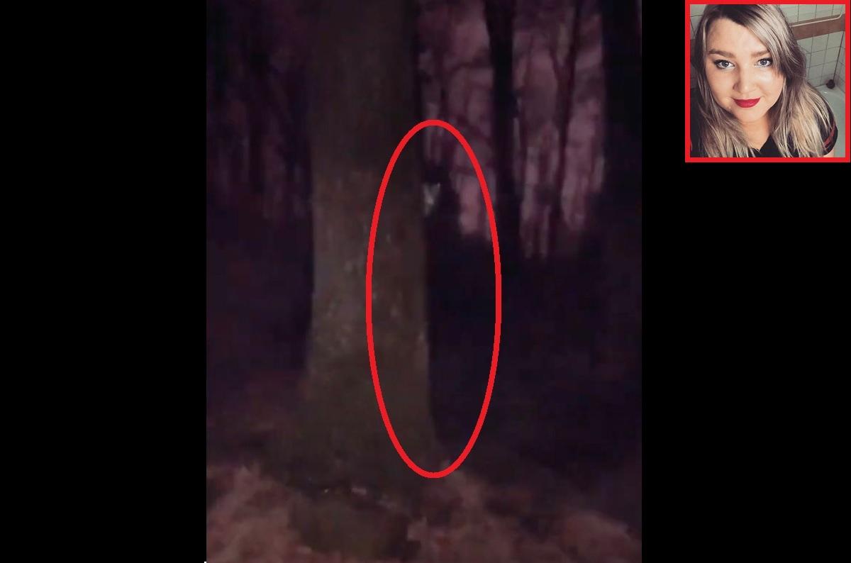 """Suposto """"demônio"""" surge detrás de uma árvore em vídeo"""