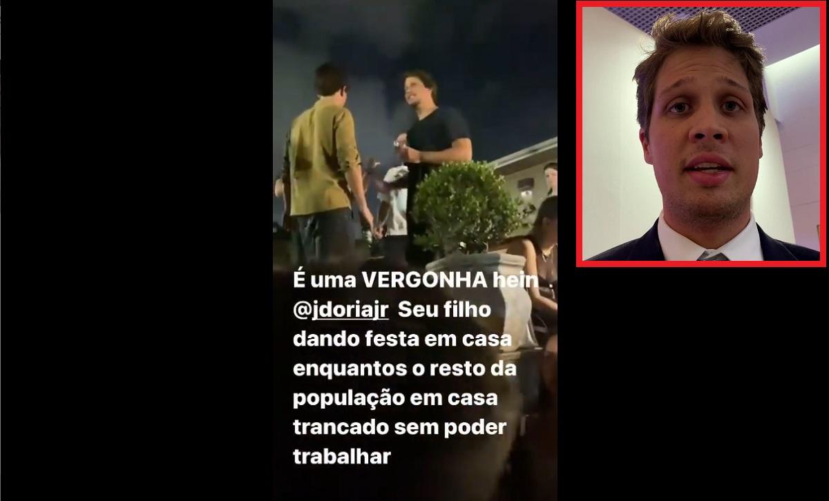 Filho de João Doria deu festa durante lockdown em São Paulo?