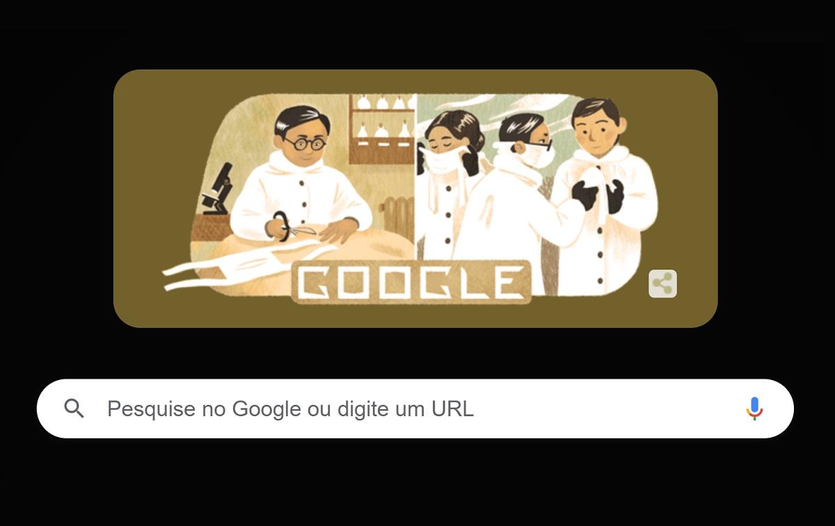 Doodle do Google homenageia médico criador da máscara N95