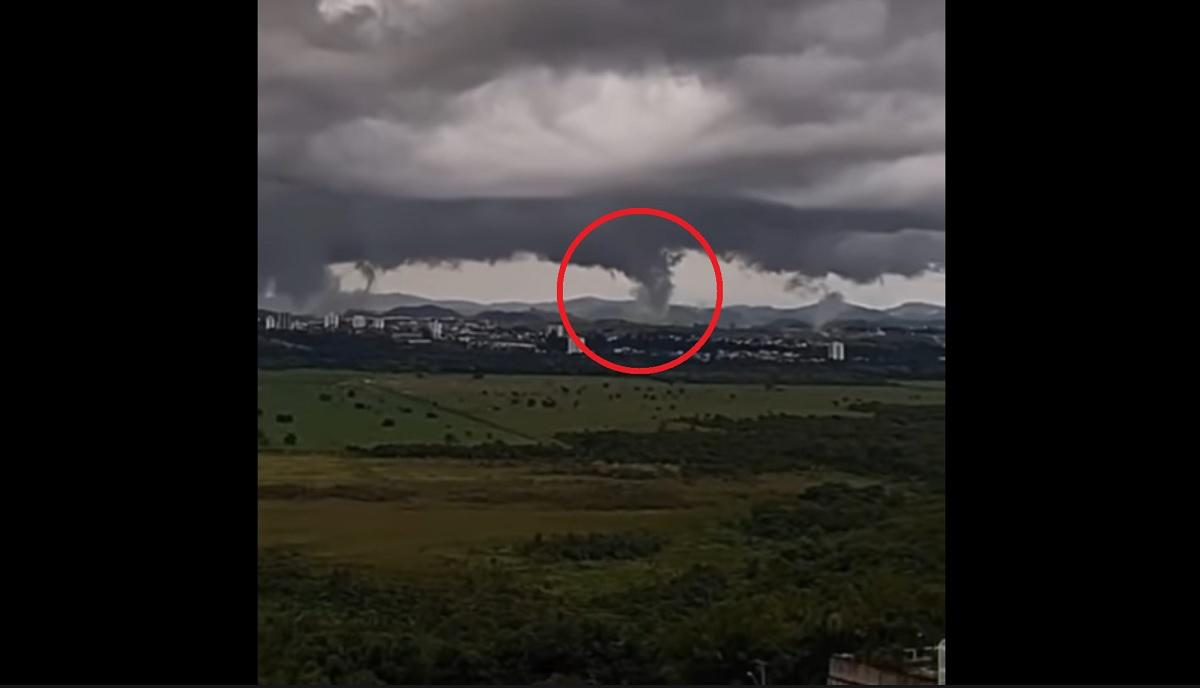 Vídeo mostra tornado se formando no interior de São Paulo