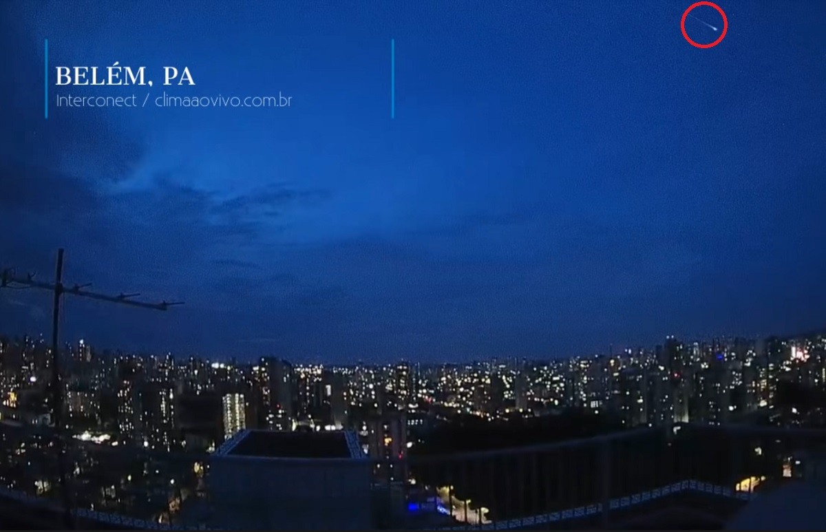 Objeto luminoso observado ontem no Pará e no Ceará não era meteoro