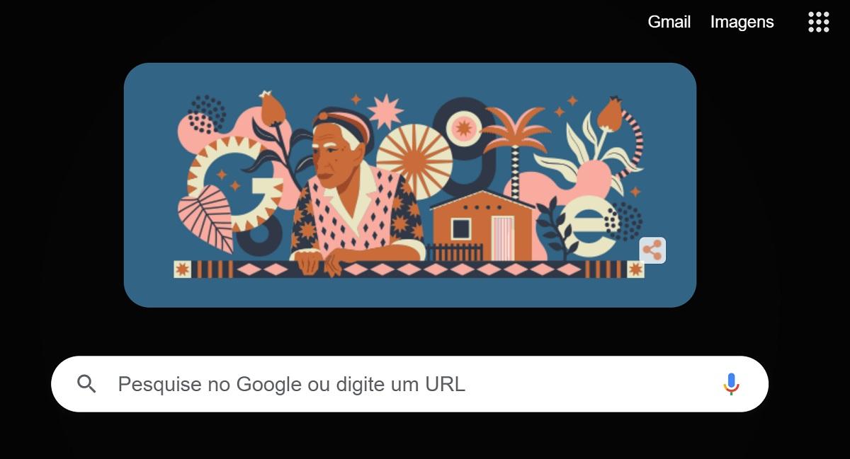 Google homenageia a romanceira Dona Militana no Doodle