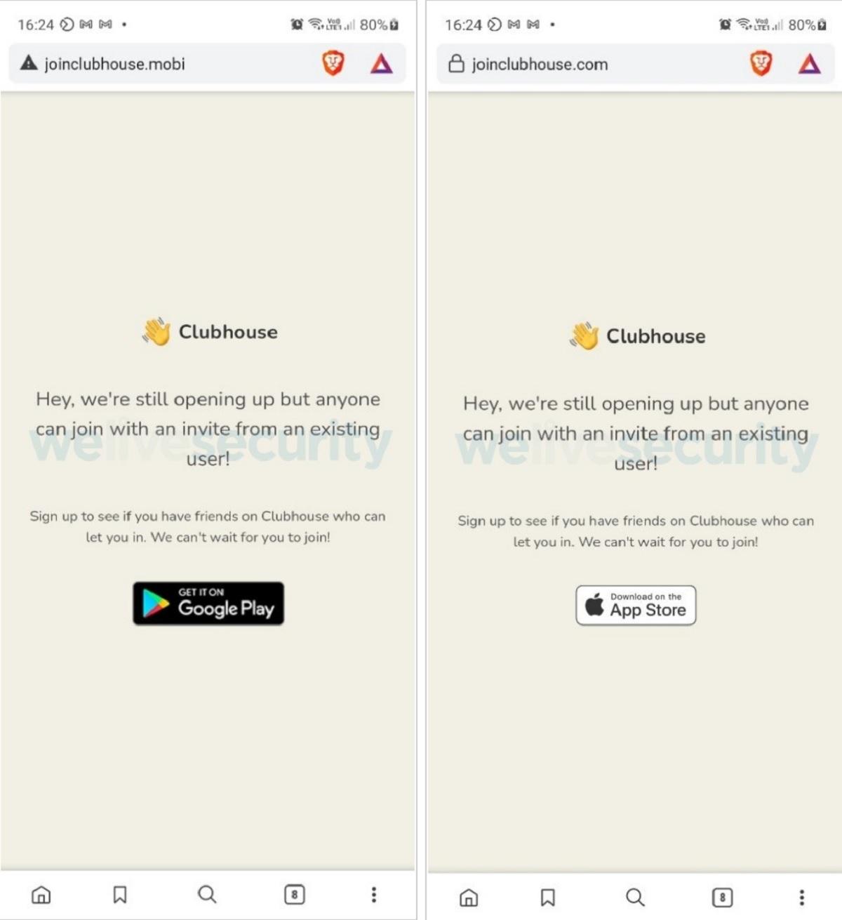 Cuidado com o falso aplicativo Clubhouse para Android