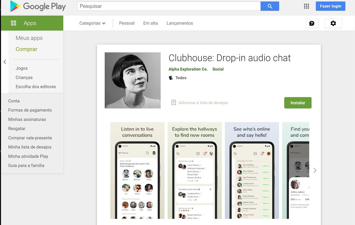 Badalada rede social Clubhouse chega para Android