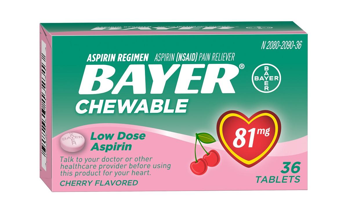 81 mg de Aspirina podem ajudar contra derrame e ataque cardíaco, diz estudo