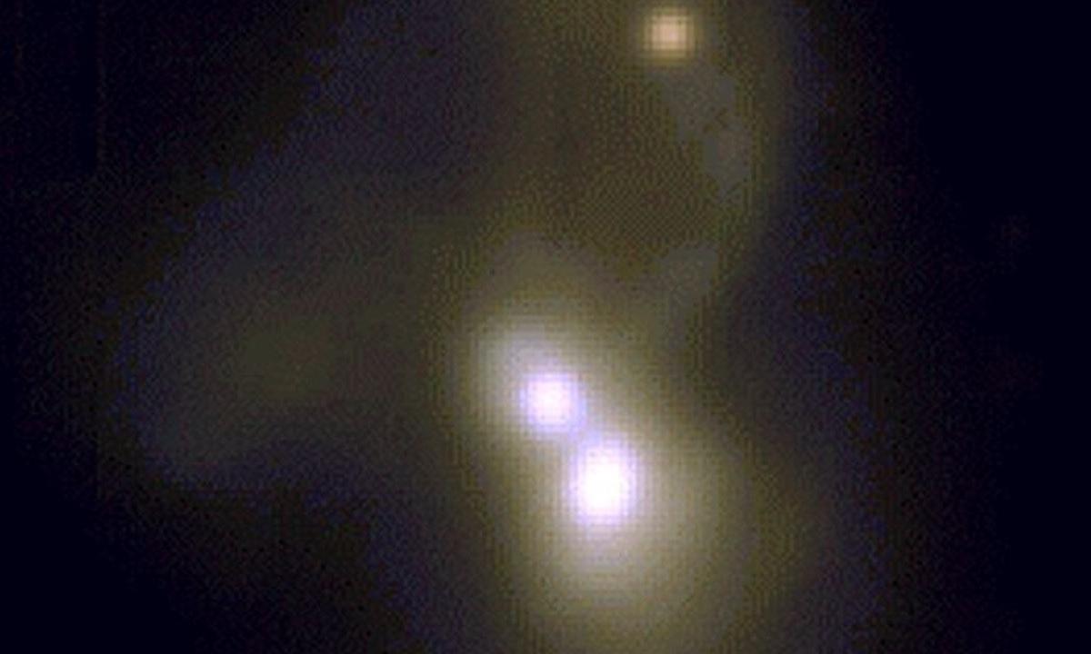 Cientistas encontram três galáxias se fundindo a 800 milhões de anos-luz