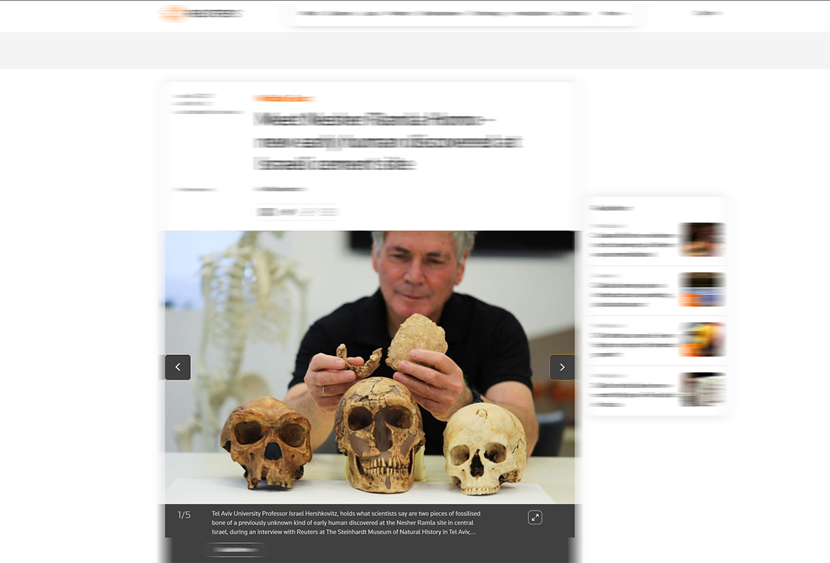Nova espécie de humanos pode ter vivido em Israel há 100.000 anos