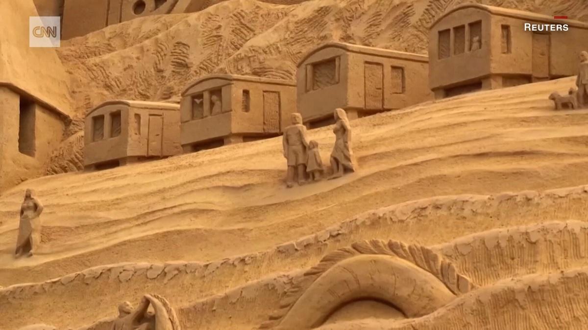 Dinamarca ganha o castelo de areia mais alto do mundo