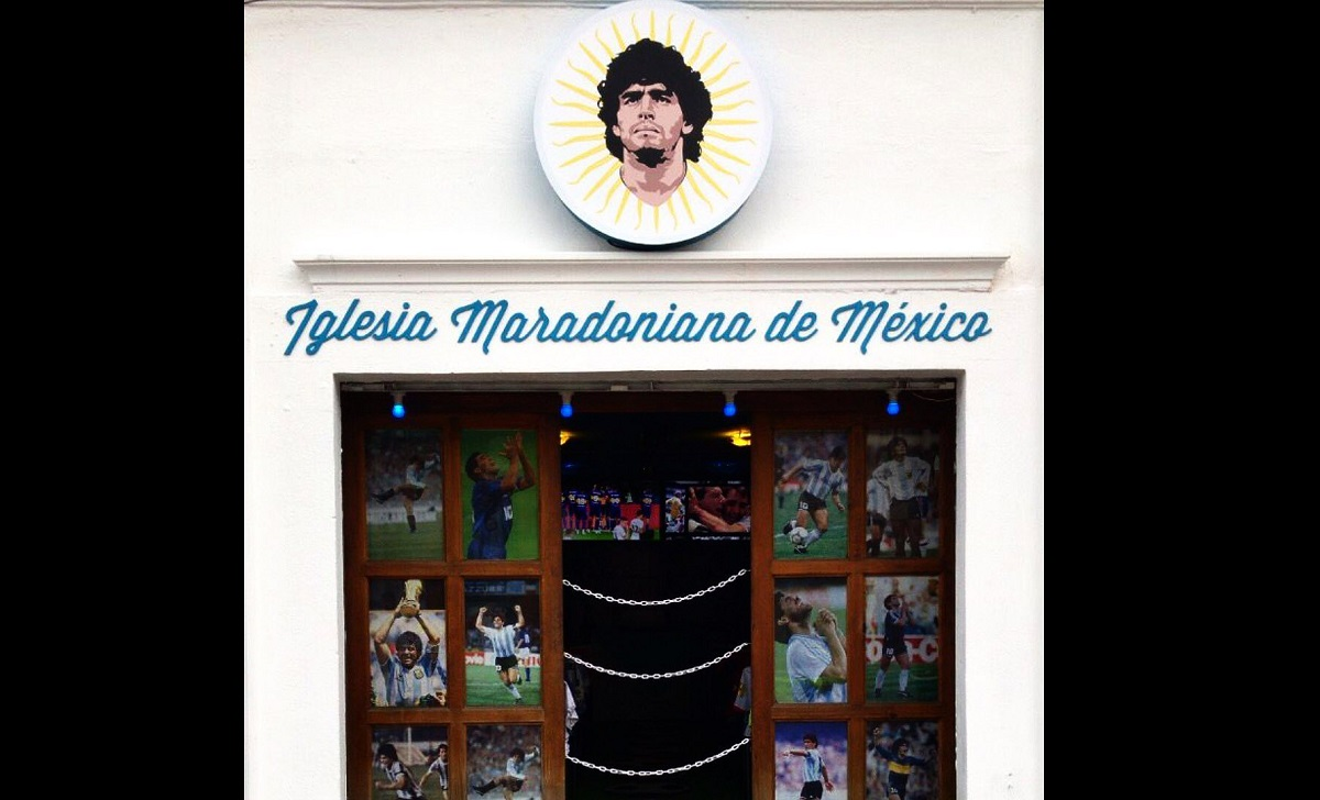 México inaugura sua Igreja Maradoniana
