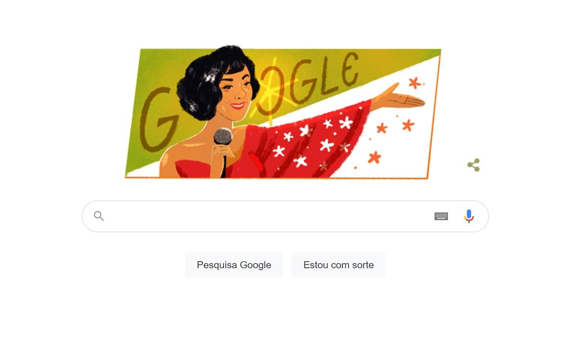 Doodle do Google lembra os 101 anos de Elizeth Cardoso