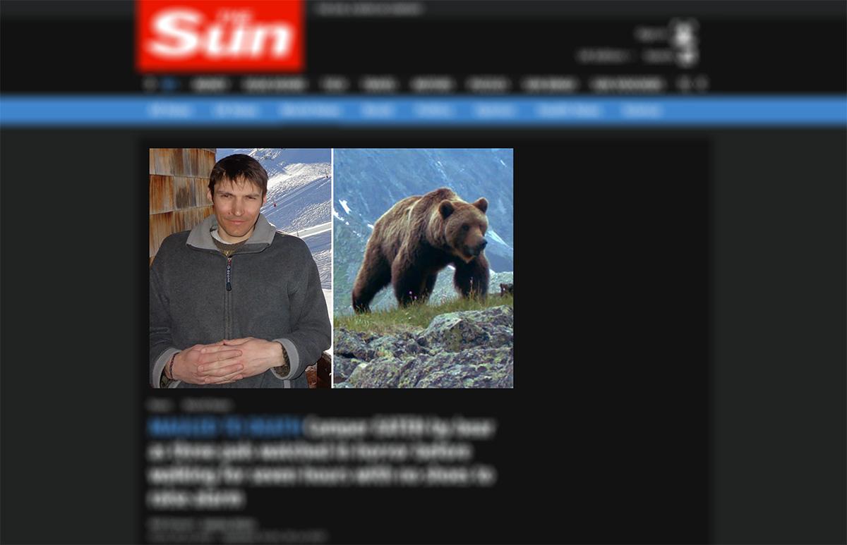 Russo é morto e comido por urso em parque da Sibéria
