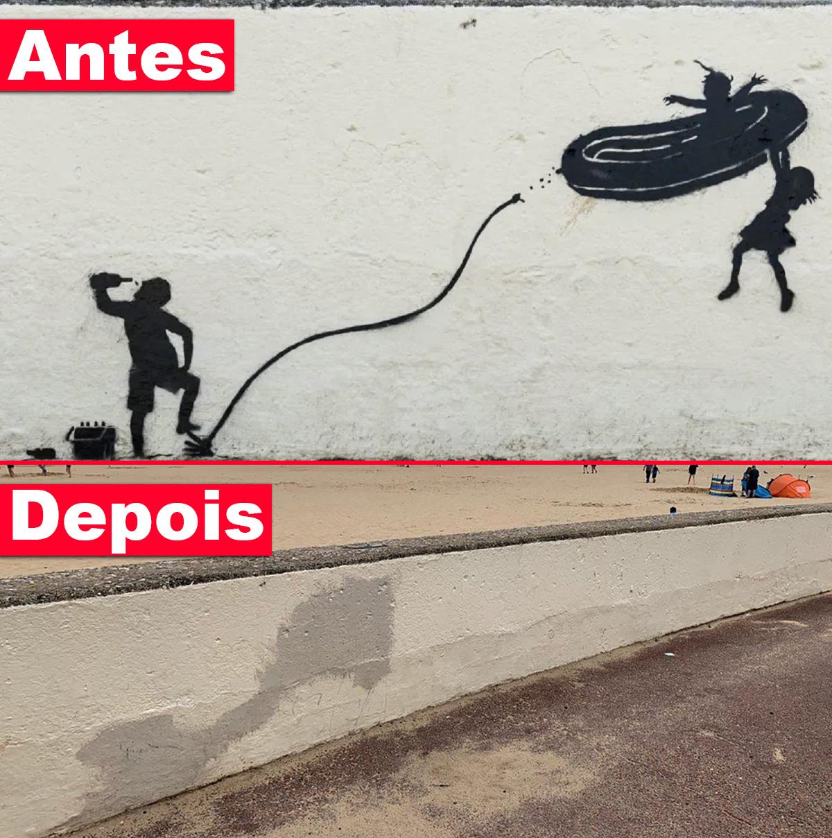 "Cidade britânica apaga obra de Banksy considerada ""insensível"""