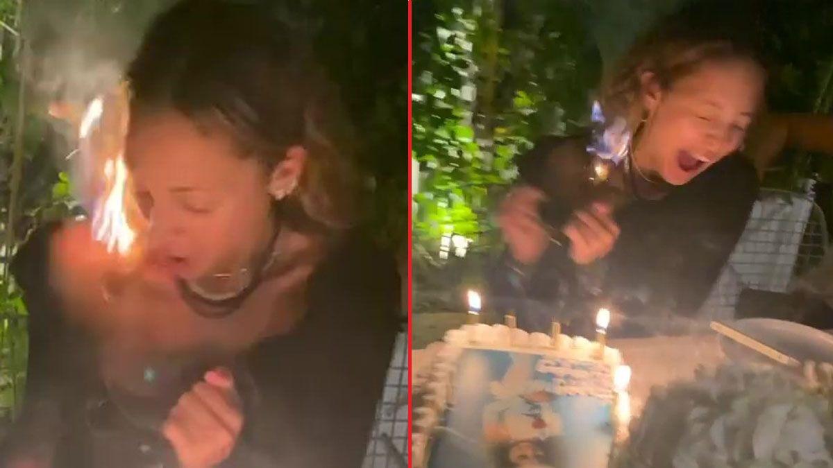VÍDEO: estilista e socialite Nicole Richie queima o cabelo em seu aniversário