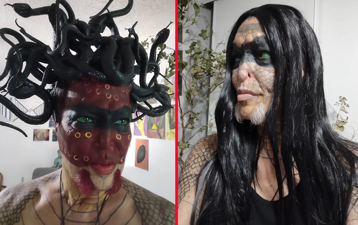 """BIZARRO: homem que virou """"mulher dragão"""" agora quer """"remover o pênis"""""""