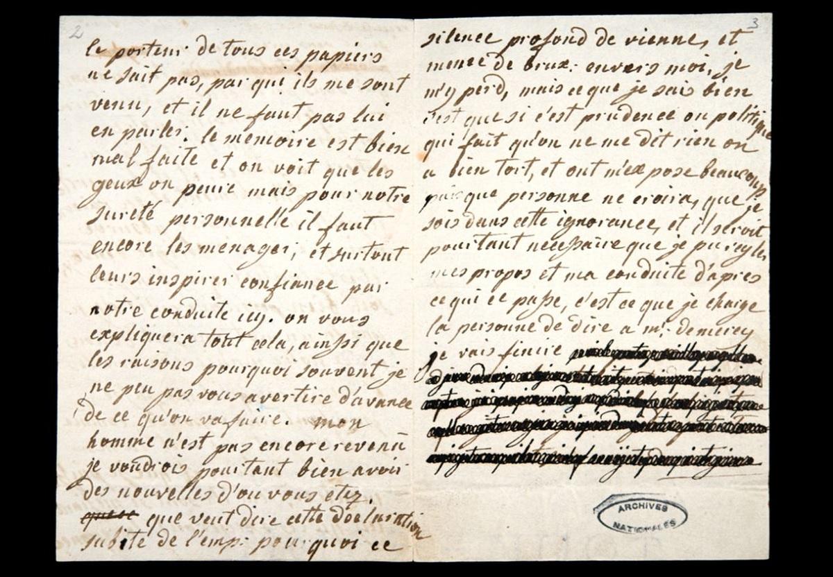 Cientistas revelam trechos censurados de cartas de Maria Antonieta a amante