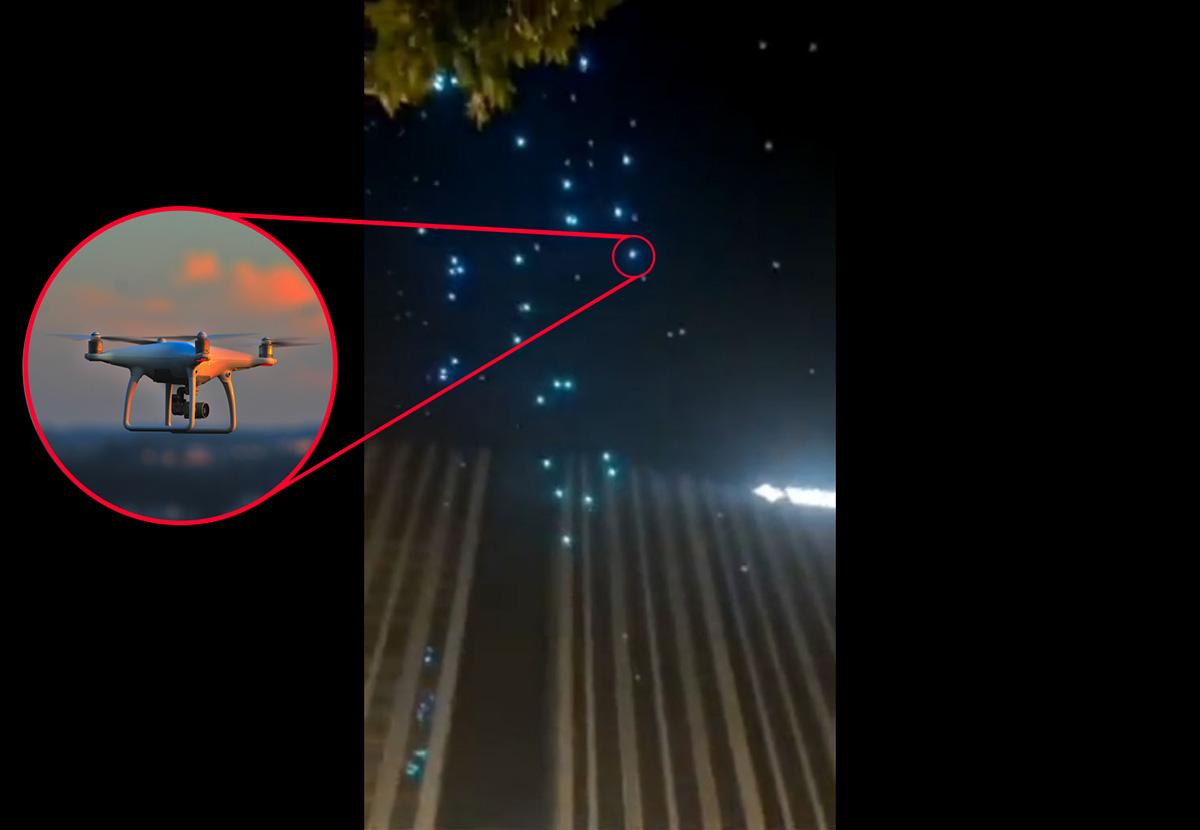 Show de luzes com 200 drones dá errado na China